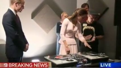 Watch Wills and Kate learn how to DJ… kind of