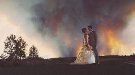 Amazing Wildfire Wedding Photos