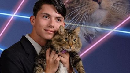 Teen Petitions to Have Photo of Him and His Cat in School Yearbook