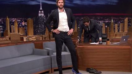Liam Hemsworth and Jimmy Fallon Strut in High Heels
