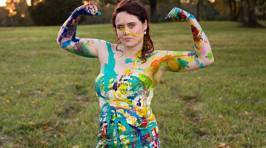 Bride Whose Fiance Called Off Wedding Trashes Dress With Paint and Glitter