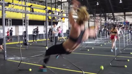 Crossfitters Completely Failing to Jump Over Hurdles