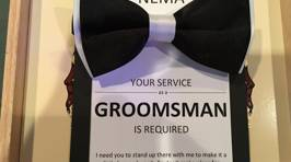 The Coolest Groomsman Invitation Ever