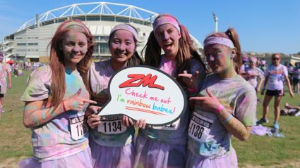 AUCKLAND - The Color Run Fame Frame Photos