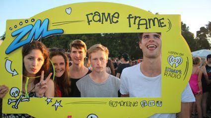 CHRISTCHURCH - Hullabaloo Music Festival Fame Frame Photos