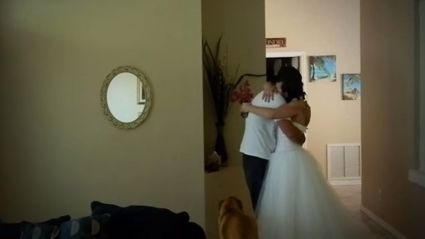 Wife Surprises Husband For Wedding Anniversary