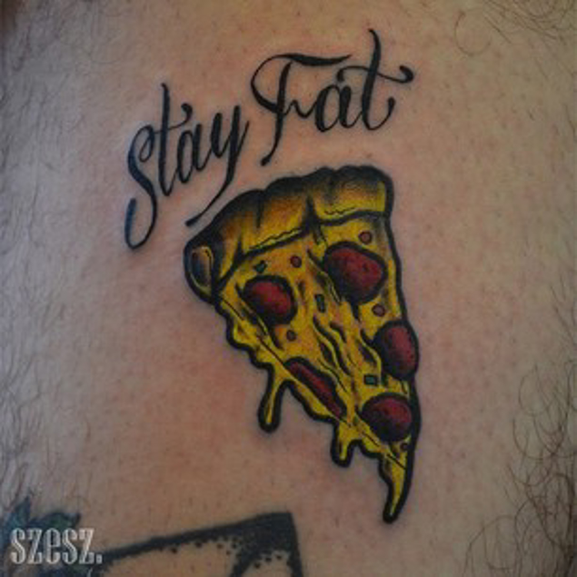 Tattoo pizza Dominos Ends