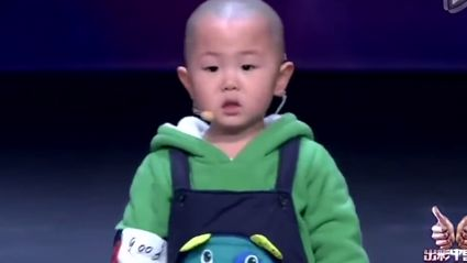 Adorable 3-Year-Old Dances In Talent Show
