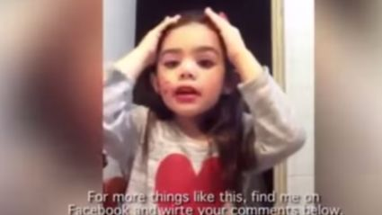 Little Girl's Make-Up Tutorial Video Goes Viral And Sparks Outrage