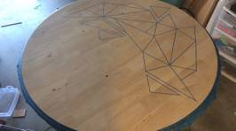 This Guy Made An Old Table Way Cooler With Just A Few Simple Things