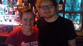 Ed Sheeran Dines Out At Lonestar Manchester Street in Christchurch