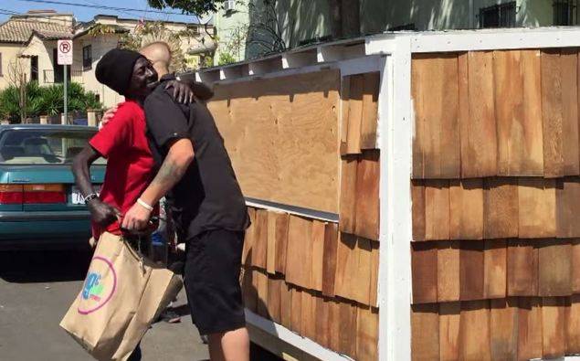 Man Changes The Life Of Homeless Woman By Building Her A