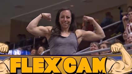 Jacked Woman Vaporizes Unprepared Man on Arena Football Flex Cam