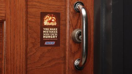 Snickers Found Amusing Fails All Over NYC and Put These Stickers Next to Them