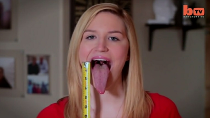 This Girl Reckons She's Got the World's Longest Tongue
