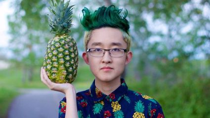 Guy Gets Head Shaved to Resemble A Pineapple. Does Awesome Photoshoot.