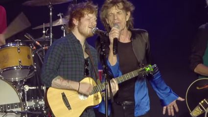 Ed Sheeran Joins The Rolling Stones On Stage