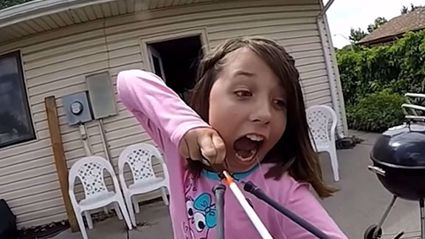 Innovative Kid Rips Out Her Baby Tooth Using A Crossbow