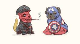 Marvel Superheroes As Dogs