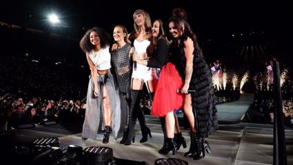 "Taylor Swift Brings Little Mix On Stage to Perform ""Black Magic"" With Her"