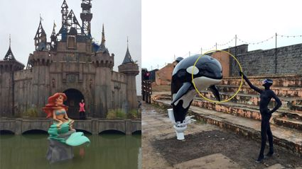 Banksy's New Art Exhibition Is In A Theme Park & It's Creepy!