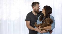 A Couple Did A Newborn Photo Shoot With Their Dog 'Cause People Kept Asking Them About Babies