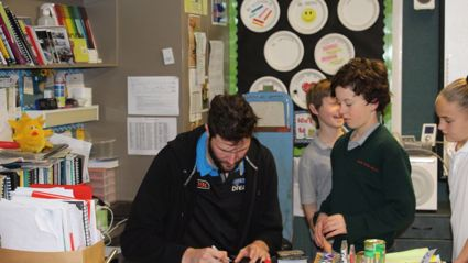 WAIKATO - The SKYCITY Breakers at St Peter Chanel Catholic School Hamilton