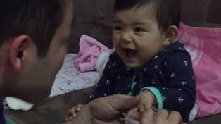 Cute Baby Fake Cries When Dad Tries to Cut Her Fingernails