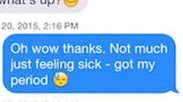 This Girl Told Guys On Tinder She Was On Her Period to See What Their Reactions Would Be