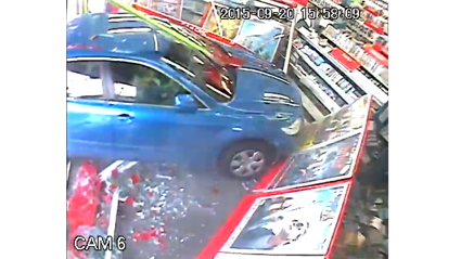 Kids Extremely Lucky As Car Smashes Into Auckland Video Store
