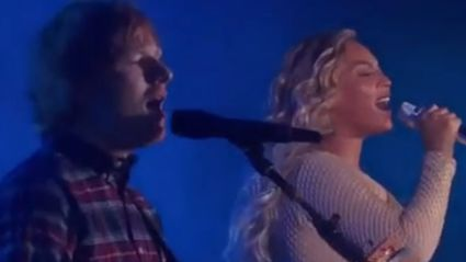 Beyonce and Ed Sheeran Sing Drunk In Love Together