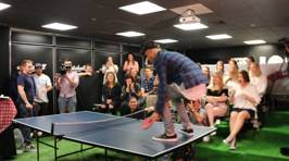 PHOTOS: Justin Bieber's Ping Pong Game Is STRONG