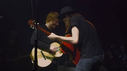 "James Bay & Ed Sheeran Perform ""Let It Go"" Together"