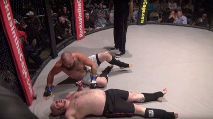 VIDEO: Cage Fighter Soils Himself On the Mat In Front Of Everyone
