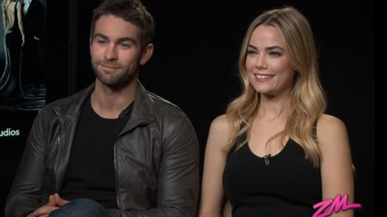 Video: Megan Interviews Chase Crawford & Rebecca Rittenhouse