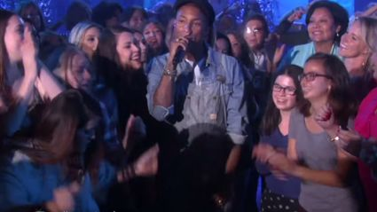 "Pharrell Turns The Ellen Show Into Dance Party With ""Freedom"" Performance"