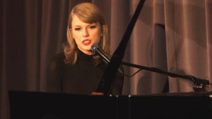 Taylor Swift Wows with Stripped Back Version of 'Out of the Woods'