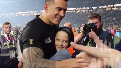 Sonny Bill Williams Hugs Fan and Gives Him His MEDAL After RWC Win