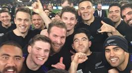 PHOTOS: How The All Blacks Celebrated Their Win