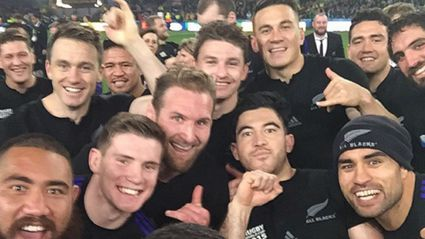 PHOTOS: How The All Blacks Celebrated Their Win