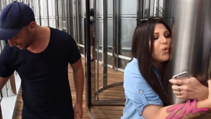 VIDEO: Megan Freaks the F**k Out While Up the Tallest Building In the World