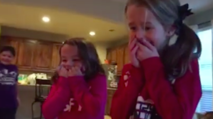 A Couple Surprised Their Daughters With A New Brother Under the Christmas Tree