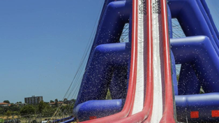 World's Tallest Inflatable Water Slide Opens Today