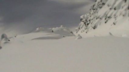 POV Footage of Skier Buried In Avalanche