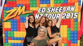 AUCKLAND - ZM's Lego Photowall at Ed Sheeran's Mt Smart Stadium Gig