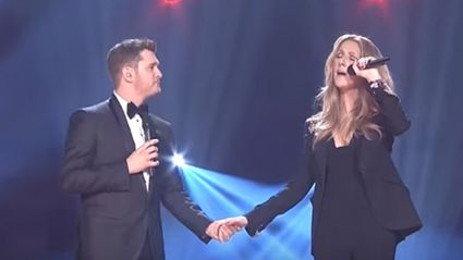 """Celine Dion & Michael Buble Reach Peak Christmas By Singing """"Happy Xmas (War is Over)"""""""