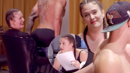 Producer Caitlin Gets Felt Up at Strip Search Auditions (and LOVES It)