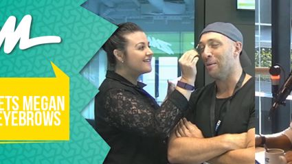 Fletch Lets Megan Tint His Eyebrows