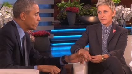 Obama Tells Ellen How Important She is For Gay Rights & She Cried A Little