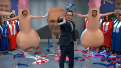 WATCH: John Oliver Presents 'New Dildo Flag' Mocking Steven Joyce